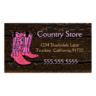 Pink Cowboy Boots-Western Theme Business Cards