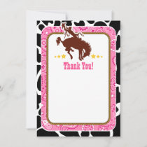 Pink Cowboy Thank You Notes