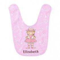 Pink Cowgirl Baby Girl Bib