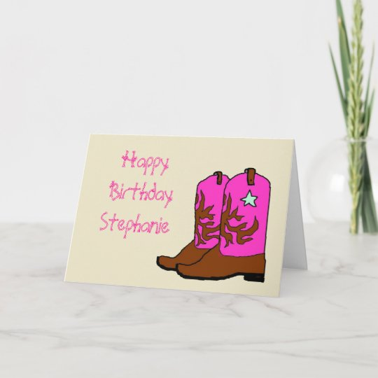 Pink Cowgirl Birthday Cards Zazzle