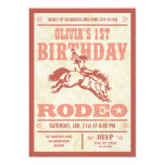 """Pink Cowgirl Birthday Rodeo Poster Invitations 5"""" X 7"""" Invitation Card"""