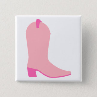 Pink Cowgirl Boot Button
