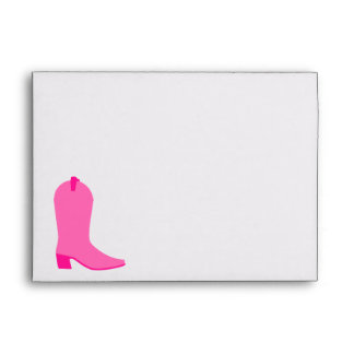 Pink Cowgirl Boot Envelope
