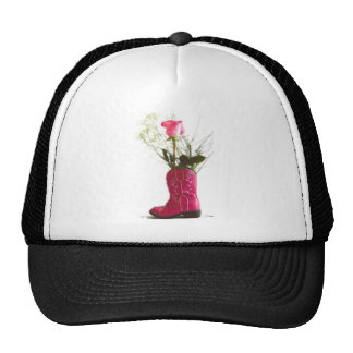 Pink Cowgirl Boot Rose Hat