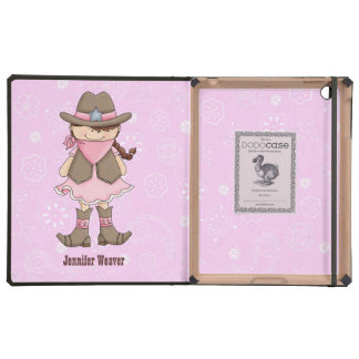 Pink Cowgirl DODO iPad Case