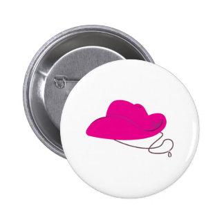 Pink Cowgirl Hat 2 Inch Round Button