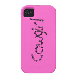 Pink Cowgirl iPhone Case - Pink Cowgirl iPhone 4S Case-Mate iPhone 4 Cases