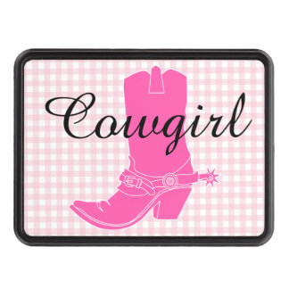 Pink Cowgirl Trailer Hitch cover