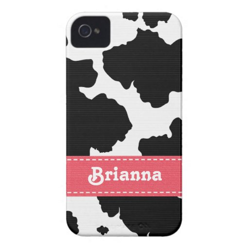 Pink Cowhide iPhone 4 4s Case-Mate Cover iPhone 4 Covers