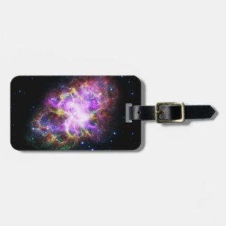 Pink Crab Nebula Bag Tag
