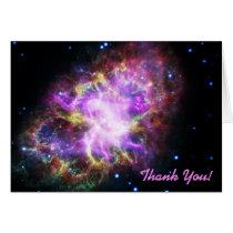 Pink Crab Nebula Space Image Thank You