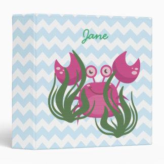 Pink Crab Peeking Through the Seaweed Binders