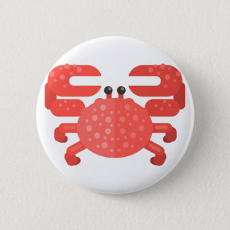 Pink Crab Primitive Style Button