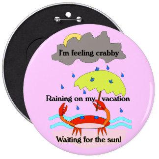 Pink Crabby Haiku Button