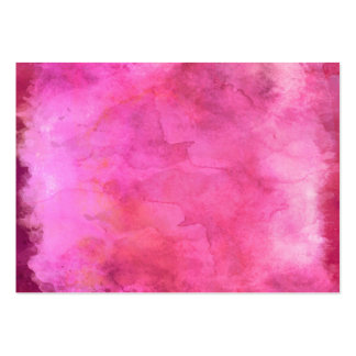 Pink Cranberry Watercolor Texture Pattern Large Business Cards (Pack Of 100)