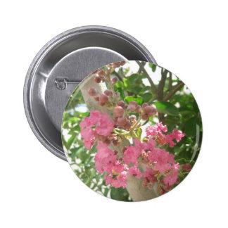 Pink Crape Myrtle 1 2 Inch Round Button