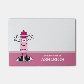 Pink Crayon Personalized Post-it® Notes