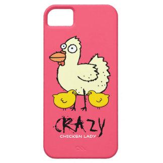 PINK Crazy Chicken Lady Cartoon Hen iPhone SE/5/5s Case