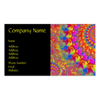 Pink Crazy Fractal Double-Sided Standard Business Cards (Pack Of 100)