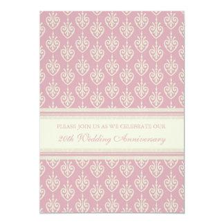 Pink Cream 20th Anniversary Party Invitation