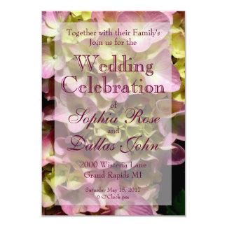 Pink & Cream Hydrangea Wedding collection Card