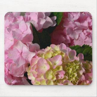 pink  cream hydrangeas mouse pad