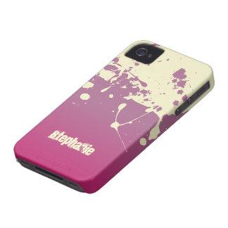Pink cream paint splatter stylish blackberry bold iPhone 4 Case-Mate case