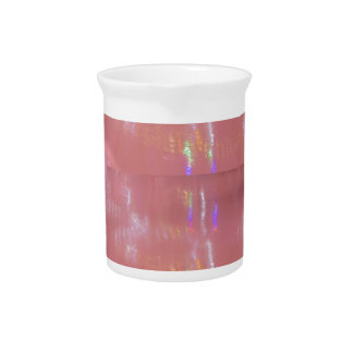 PINK Cream Silken Sparkle Print Pattern GIFTS ALL Drink Pitcher