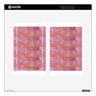 PINK Cream Silken Sparkle Print Pattern GIFTS ALL Kindle Fire Decal