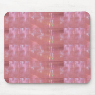 PINK Cream Silken Sparkle Print Pattern GIFTS ALL Mouse Pad