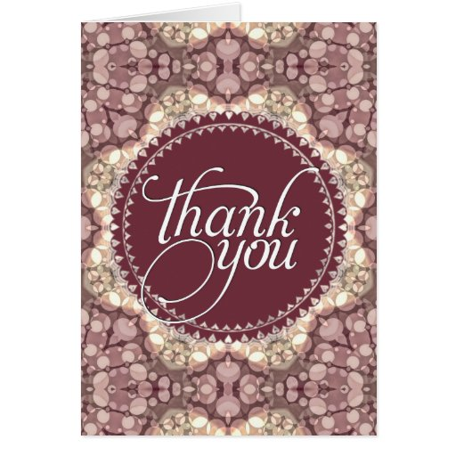 Pink & Cream Thank You Cards