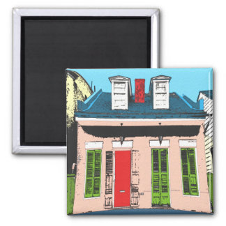 Pink Creole Cottage Magnet