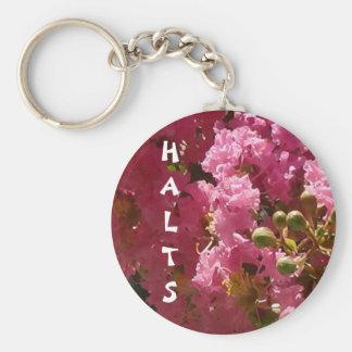 "Pink Crepe Myrtle ""HALTS"" Autism Keychain"