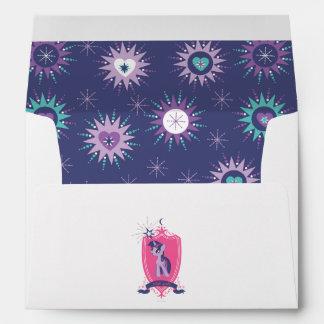 Pink Crest Envelope