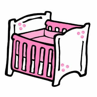 pink crib photo sculpture