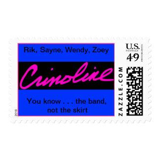 Pink Crinoline Postage Stamp
