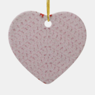 Pink Crochet Heart Ornament