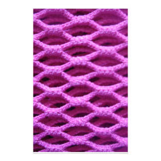 Pink Crochet Look Stationery