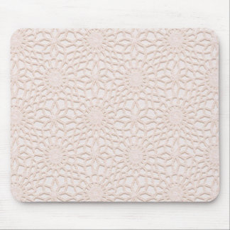 Pink Crochet Mouse Pad