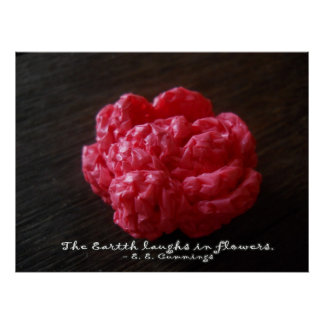 Pink Crochet Rose Posters