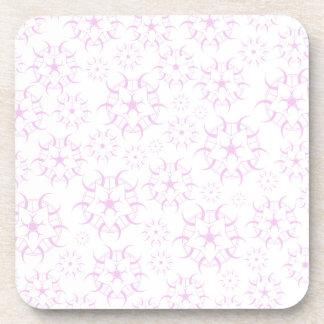Pink Crop Circles Beverage Coaster