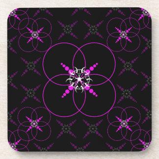 Pink Crop Circles Coaster