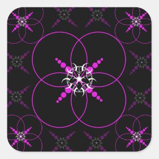 Pink Crop Circles Square Sticker