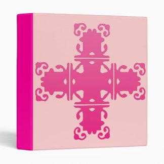 pink cross 3 ring binder