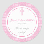 Pink Cross Address Label/Favor Sticker