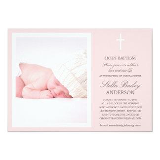 PINK CROSS | BAPTISM INVITATIONS