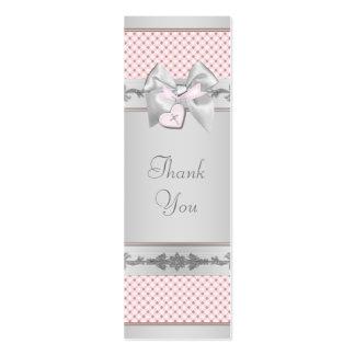 Pink Cross Bomboniere Tags Mini Business Card