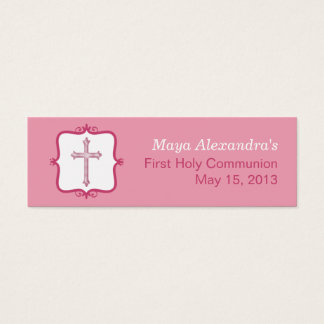 Pink Cross Communion Small Tag