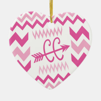 PINK Cross Country Running Ceramic Ornament
