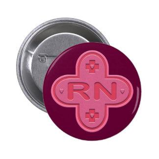Pink Cross Pinback Button